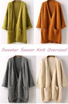 You've got the hug? We've got the cardigan. This sweater is made in a soft cable knit and features pockets, open front and cocoon style. You can enjoy free shipping and tax at SHEIN.com