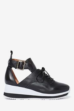 Jeffrey Campbell Jeter Leather Trainer - Sneakers