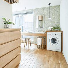 家事を時短できる「サク家事」の間取りと収納 Dream Home Design, House Design, Japanese House, Fashion Room, House Colors, Laundry Room, Washing Machine, Ideal Home, Home Appliances
