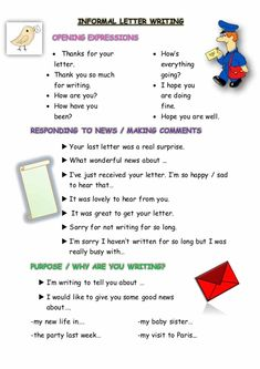 How to Write a Letter: Informal and Formal English 6