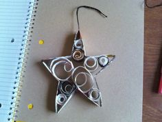 How to make a paper model. Recycled Magazine Ornaments - Step 5