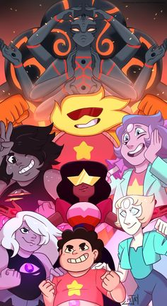 """ ""Then let's fuse, all four of us!"" I've always wanted to draw one of these, so now that we have Steven's fusions it was the perfect opportunity I wanna see more of them all "" outra pessoa escreveu Não sei de novo. Steven Universe Anime, Steven Universe Pictures, Steven Universe Characters, Steven Universe Wallpaper, Steven Universe Drawing, Pink Diamond Steven Universe, Steven Universe Memes, Universe Art, Finn The Human"