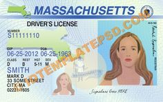 This is Massachusetts (USA State) Drivers License PSD (Photoshop) Template. On this PSD Template you can put any Name, Address, License No. DOB etc and make your personalized Driver License.  You can also print this Massachusetts (USA State) Drivers License from a professional plastic ID Card Printer and use as per your requirement.