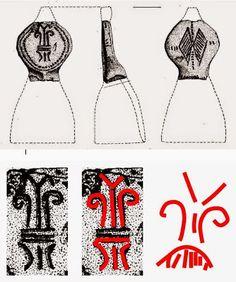 Interpretarea simbolurilor incizate pe inelul sigilar din bronz descoperit la Seimeni: Mama Pământ, bucraniul şi Zeul Cerului – simboluri atestate în paleoliticul superior, neoliticul timpuriu şi în toate perioadele următoare. Simbolurile incizate pe inel sunt identice cu simbolurile prezente pe statuetele antropomorfe feminine aparţinând culturii dunărene Zuto Brdo – Gârla Mare din epoca bronzului mijlociu şi târziu: https://sites.google.com/site/seimenineoliticsipreneolitic/