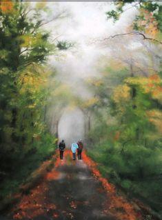 """catherine cannat, pastelliste """"Le passage"""" pastel sec Pastels, Country Roads, Mountains, Nature, Travel, Naturaleza, Viajes, Trips, Nature Illustration"""
