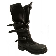 Black leather boots - AS98 shoes online