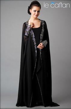 Abaya Dubai de Luxe Simple & Elégante ~ LE CAFTAN : Boutique de vente caftan marocain