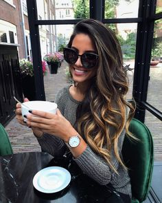 Fall Hair Color Trends & Styles – Home, Fashion & Beauty Cabelo Tiger Eye, Coiffure Hair, Hair Color And Cut, Hair 2018, Balayage Hair, Bayalage, Haircolor, Ombre Hair, Brunette Hair