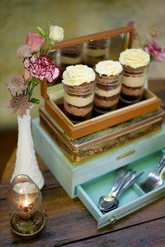 dessert ideas http://www.weddingchicks.com/2013/10/15/brooklyn-garden-wedding/
