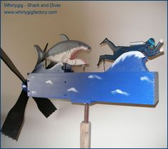 Shark and Diver Dremel Wood Carving, Wind Sculptures, Jar Art, Cool Woodworking Projects, Woodworking Plans, Kinetic Art, Wind Spinners, Beach Crafts, Scroll Saw