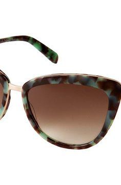 Kate Spade New York Kandi/S (Mint Tortoise/Brown Gradient) Fashion Sunglasses - Kate Spade New York, Kandi/S, KANDI/S 0JDQ/B1, Eyewear Fashion General, Fashion Eyewear, Fashion, Eyewear, Gift - Outfit Ideas And Street Style 2017