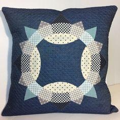Brimfield Block Pillow - English Paper Piecing & Appliqué