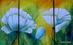Resultado de imagen de cuadros abstractos modernos con flores
