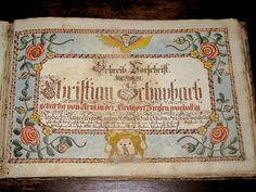 1823 Amish German Fraktur Vorschrift Watercolor Manuscript Folk Art Pennsylvania | eBay