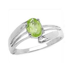 .5 CT Oval Cut Peridot on Sterling Silver