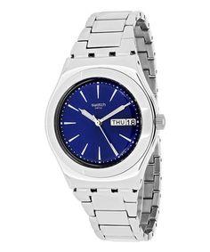 Loving this Silver & Blue Grande Dame Watch on #zulily! #zulilyfinds