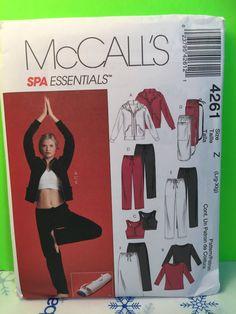 2003 McCalls Spa Essentials Pattern 4261 Misses Tops, Pants, Skirt And Bag. Size: Z, Large/X-large. Uncut.
