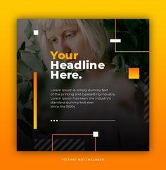 Instagram post template yellow orange elegant trendy dynamic | Premium Psd #Freepik #psd #frame #sale #abstract #template Social Media Ad, Social Media Branding, Social Media Banner, Social Media Template, Social Media Design, Social Media Graphics, Social Media Marketing, Marketing Strategies, Marketing Plan