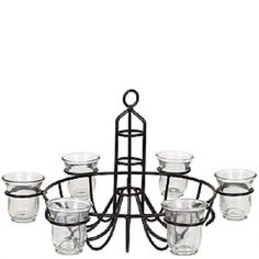 Indoor Outdoor Chandelier Candle Holder Hanging Or Tabletop Flowers Candles