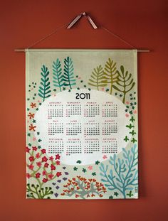i'd like to hang one of these calendars on a wall painted that color