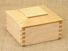 Custom Wooden Box, Curly Maple, short on Etsy, $60.00