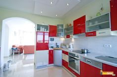 Painting Kitchen Cabinets Red?? #StellaKitchens