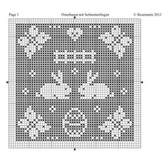 ru / Photo # 45 - Easter / / freebies - Jozephina - Tours,Trips,Home Decoration,Hairstyle Crochet Cross, Crochet Chart, Filet Crochet, Crochet Stitches, Crochet Patterns, Kawaii Cross Stitch, Cross Stitch Heart, Holiday Crochet, Easter Crochet