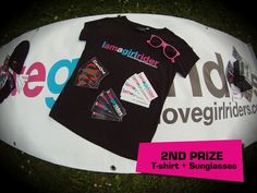 Second Prize of the new ILGR Photo Contest » Black T-Shirt I am a girl rider + Pink Sunglasses I Love Girl Riders + I Love Girl Riders & CamOne Stickers - #ilovegirlriders #iamagirlrider #ilgr #photocontest #photo #contest #ILGRphotocontest #camoneinfinity #camone #tshirt #sunglasses