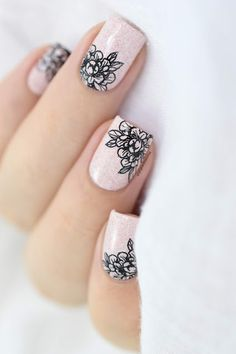 Bündel Monster Tattoo Collection - New Sites Cute Nail Art Designs, Nail Stamping Designs, Stamping Nail Art, Tribal Nail Designs, Purple Nail, Pink Nails, Monster Tattoo, Lace Nails, Flower Nails