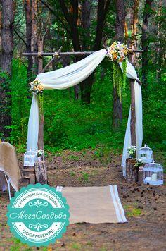свадебная арка рустик - Поиск в Google