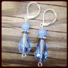 Mystic blue earrings on Etsy, $8.00