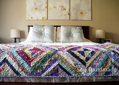 I need to get busy sewing some of these string quilts for my grandchildren.