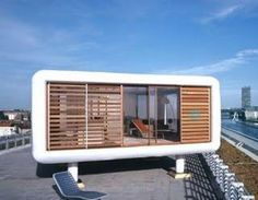 The LoftCube is a cheap & cheerful rooftop prefab Cubes, Fachada Colonial, Backyard Sheds, Tiny Apartments, Loft, Shed Design, Flat Roof, Prefab Homes, Types Of Houses
