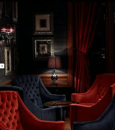 Mid-Century Bar Chairs Meet Modern Lighting Pieces You'll Love Lounge Design, Bar Lounge, Cigar Lounge Decor, Hotel Lounge, Bar Interior, Interior Design, Lobby Interior, Ad Design, Speakeasy Decor