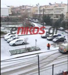 Πυκνή χιονόπτωση στα βόρεια προάστια της Αττικής - ΒΙΝΤΕΟ