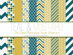 Teal-and-Mustard-Papers-Package