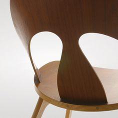 Børge Mogensen: Shell Chair, 1949  Made by Erhard Rasmussen. Teak and beech