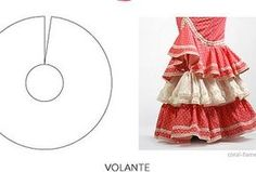 Five Types of ruffles You Should Know Skirt Patterns Sewing, Knitting Patterns, Flamenco Skirt Pattern, Foam Sheet Crafts, Gypsy Culture, Flamenco Costume, First Sewing Projects, How To Make Clothes, Pattern Drafting