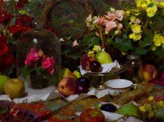 Daniel J. Keys, Begonias and Fruit.  I'm In Heaven