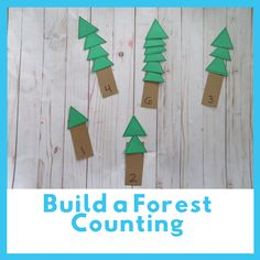 Build a Night Forest- counting activity for preschool and PreK Animal Activities, Autumn Activities, Toddler Activities, Preschool Activities, Forest Animal Crafts, Forest Crafts, Forest Animals, Woodland Animals, Preschool Centers
