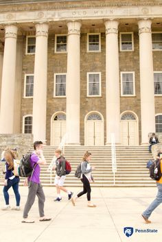 Although Old Main is a popular spot to sit and relax at, outside of the building also serves as a trail for Penn State students to pass through on their way to class