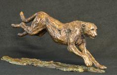 Bronze 210 x 500 x Edition 15 Bronze Sculpture, Lion Sculpture, South African Artists, Cheetah, Wildlife, Creatures, The Incredibles, Statue, Running