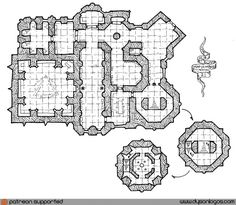 "The Emerald Hawk Society is one of those organizations that coins itself a secret society, but that is far too proud of themselves to keep it a secret. The ""secret"" headquarters of the … Perspective Room, Fantasy City Map, Pathfinder Maps, Building Map, Dungeon Maps, Concept Ships, City Maps, Medieval Fantasy, Cartography"