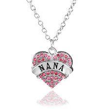 Unique Jewelry - New Fashion Family Crystal Love Heart Pendant Rhinestone Necklace Chain select17