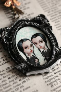 Tuesday and Wednesday Addams  The Addams Twins  by mabgraves