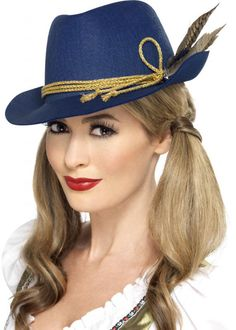 Authentic Bavarian Trenker Oktoberfest Hat with Feathers by Smiffy ...