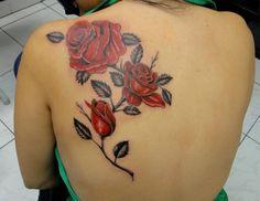 Roses tattoo by Bruno Lança.
