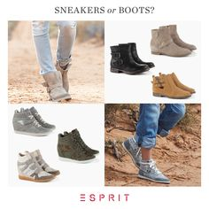 We <3 #Esprit #sneakers and #boots!