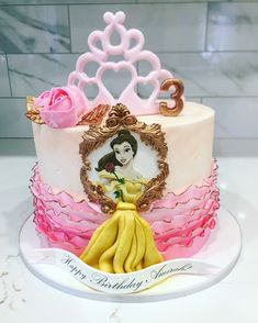 Beautiful princesse belle cake made by Liliana Da Silva from Sugarella Sweets Princess Belle Cake, Cakes And More, How To Make Cake, Cake Ideas, Wedding Cakes, Birthday Cake, Sweets, Baby Shower, Photo And Video
