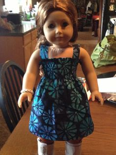 American Doll Clothes  Summer Fun Dress by Dalesdolldesigns, $10.00